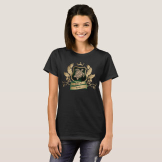 House of Turtles Crest Gold and Green Design T-Shirt