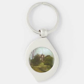 House on a small hill keychains