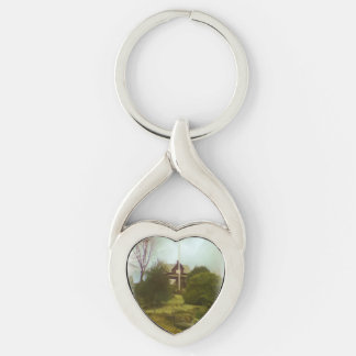 House on a small hill keychain