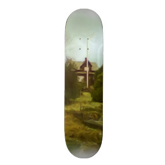 House on a small hill skate boards