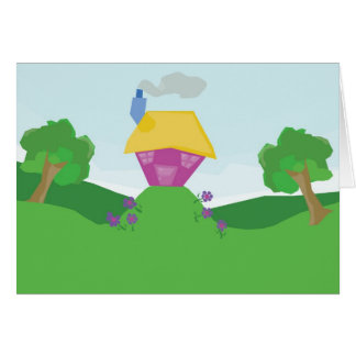 House on the Hill Card