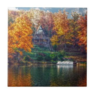 House on the Lake Ceramic Tiles