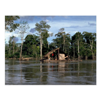 House on upper Amazon River, Peru Postcard