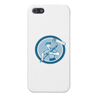 House Painter Paint Roller Circle Cartoon iPhone 5 Cases