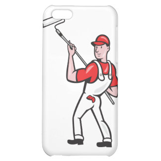House Painter With Paint Roller Cartoon Cover For iPhone 5C