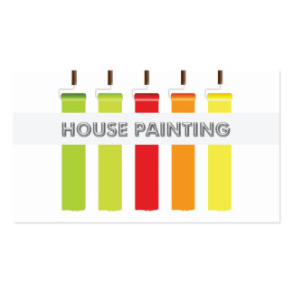 House Painter Business Cards and Business Card Templates