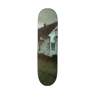 House photo drawing custom skate board