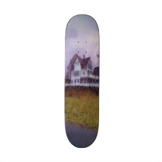 House photo drawing skate boards