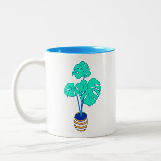House Plant 01 Two-Tone Coffee Mug