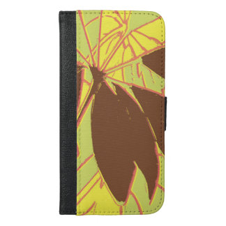 House Plant Yellow Green Red iPhone 6/6s Plus Wallet Case