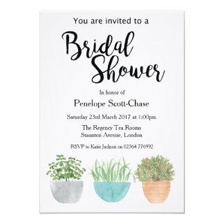 House plants succulents Bridal Shower invitation