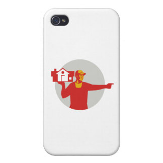 House Remover Carrying House Circle Retro Covers For iPhone 4