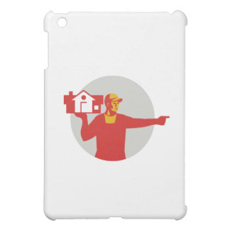 House Remover Carrying House Circle Retro iPad Mini Cover