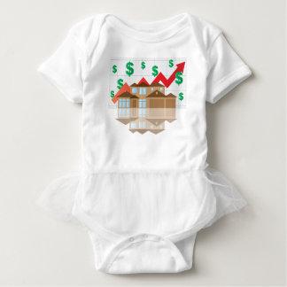 House Rising Value Graph Illustration Baby Bodysuit