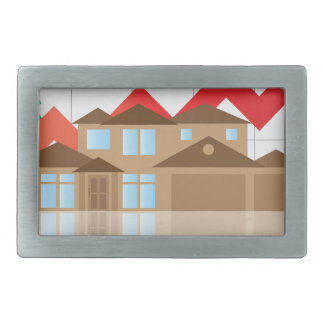 House Rising Value Graph Illustration Belt Buckle