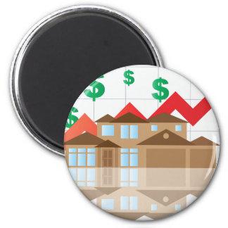 House Rising Value Graph Illustration Magnet