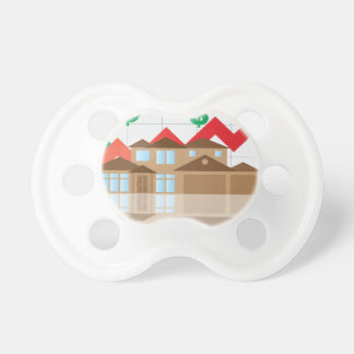 House Rising Value Graph Illustration Pacifier