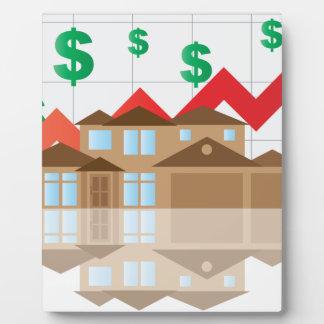 House Rising Value Graph Illustration Plaque
