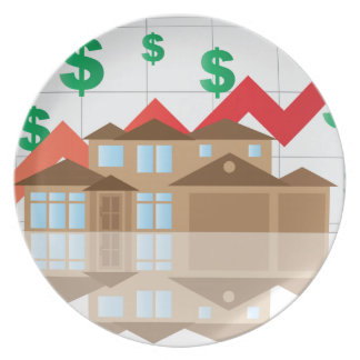 House Rising Value Graph Illustration Plate
