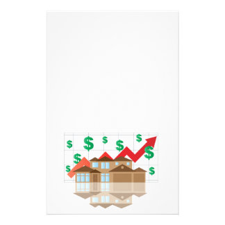 House Rising Value Graph Illustration Stationery