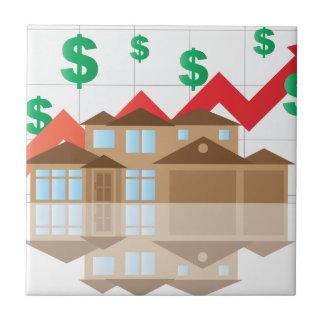 House Rising Value Graph Illustration Tile