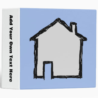 House Sketch. Black and Blue. 3 Ring Binder