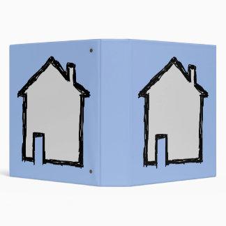 House Sketch. Black and Blue. Vinyl Binders