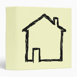 House Sketch. Black and Cream. 3 Ring Binder