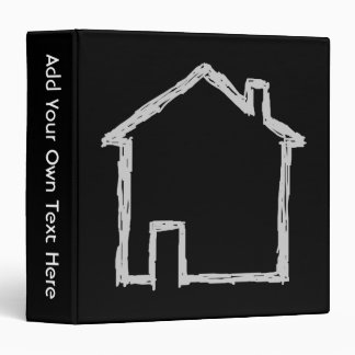 House Sketch. Gray and Black. Binder