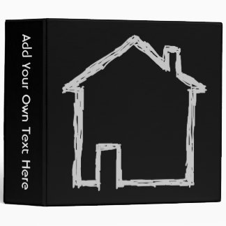 House Sketch. Gray and Black. Binders