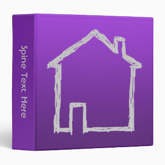 House Sketch. Gray and Purple. Vinyl Binder