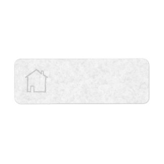 House Sketch. Gray. Return Address Label