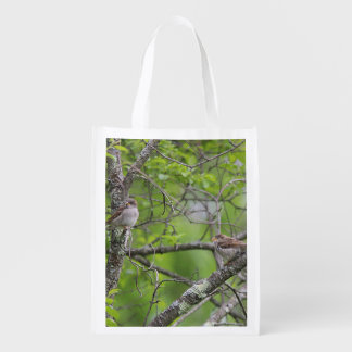 House Sparrows Reusable Grocery Bag