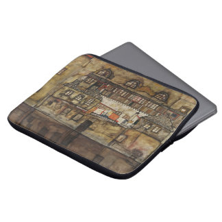 House Wall on River by Egon Schiele Laptop Computer Sleeve