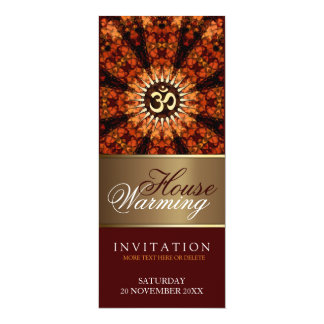 House Warming Aum Sunshine Party Invitation