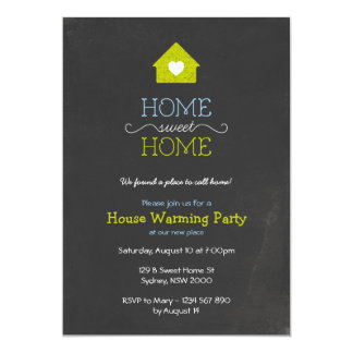 House Warming Invitation, Sweet Home Chalk Style Card