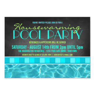 House Warming Pool Party Invitations