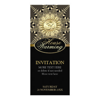 House Warming Vintage Gold OM Party Invitation
