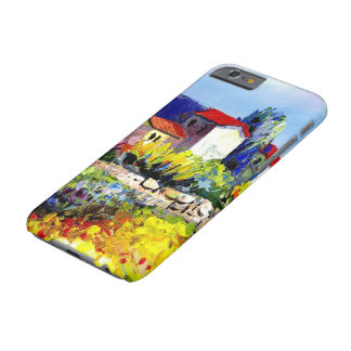house with garden colorful oil painting travel fun barely there iPhone 6 case