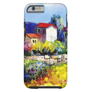 house with garden colorful oil painting travel fun tough iPhone 6 case