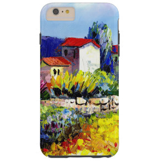 house with garden colorful oil painting travel fun tough iPhone 6 plus case