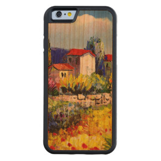 house with garden colorful oil painting travel fun cherry iPhone 6 bumper case