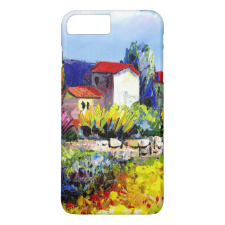 house with garden colorful oil painting travel fun iPhone 7 plus case
