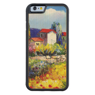 house with garden colorful oil painting travel fun carved® maple iPhone 6 bumper