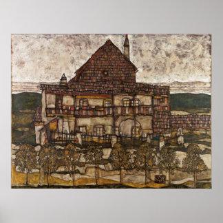 House with Shingle Roof by Egon Schiele Print