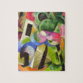 House with Trees by Franz Marc, Vintage Fine Art Jigsaw Puzzle