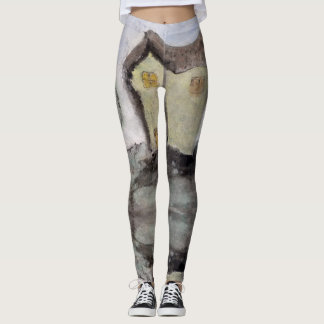 House with trees leggings