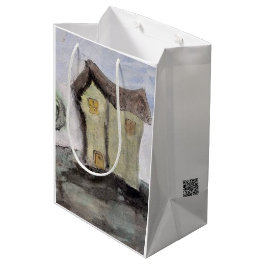 House with trees medium gift bag