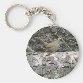 House Wren Basic Round Button Keychain
