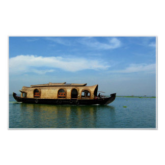 Houseboat in India Poster